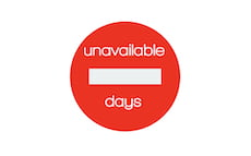 unavailable days